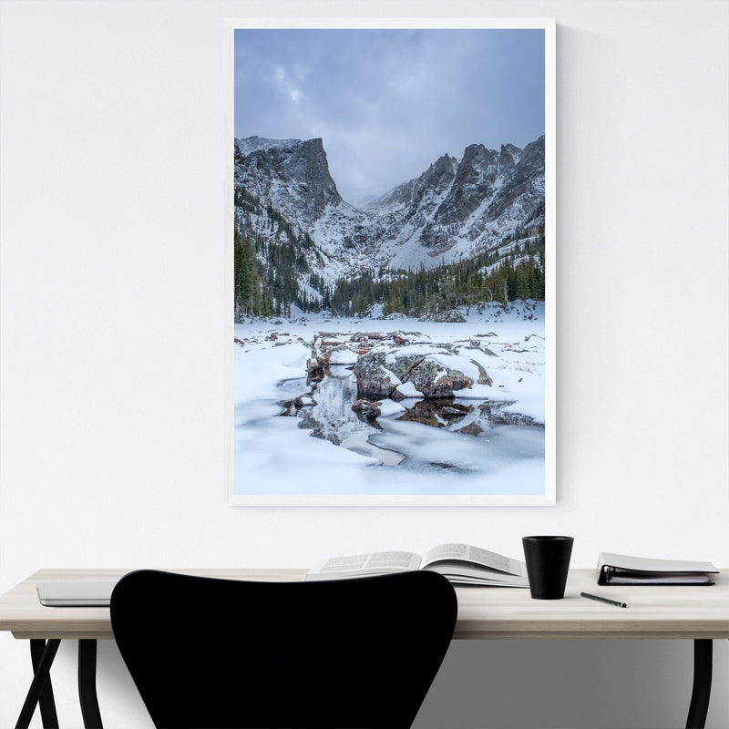 Rocky Mountains Colorado Winter Framed Art Print