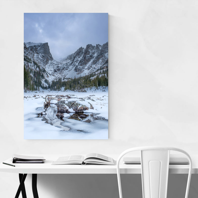 Rocky Mountains Colorado Winter Metal Art Print