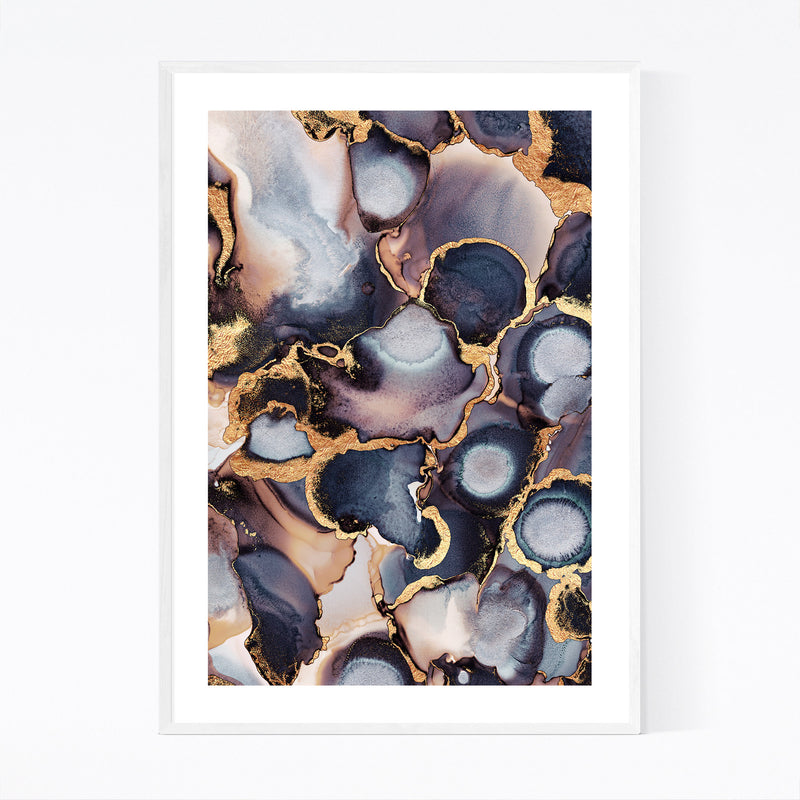 Abstract Alcohol Ink Painting Framed Art Print