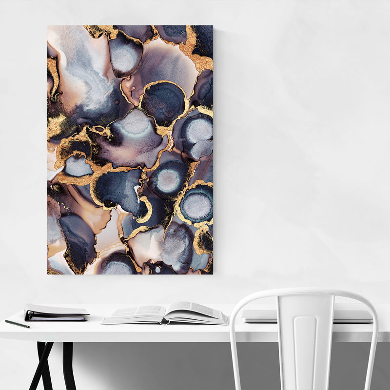 Abstract Alcohol Ink Painting Canvas Art Print