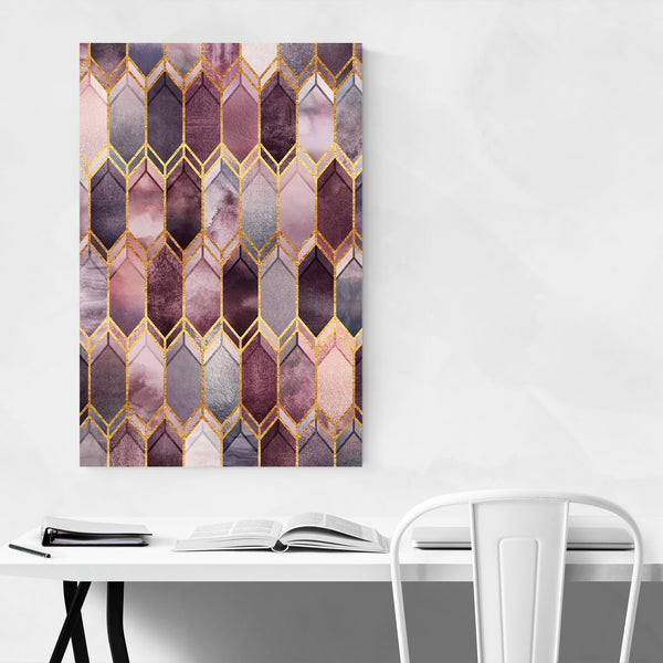 Geometric Stained Glass Digital Art Print