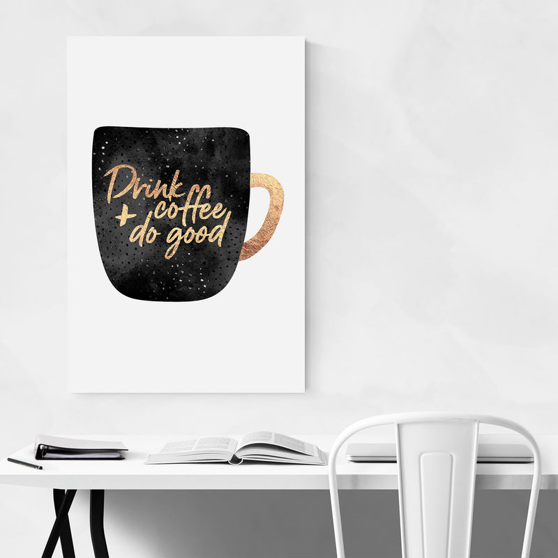 Kitchen Coffee Decor Typography Art Print