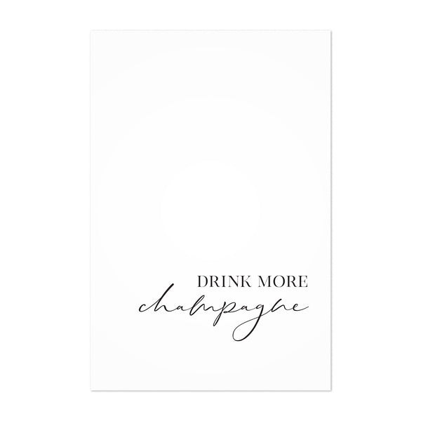 Champagne Kitchen Typography Art Print