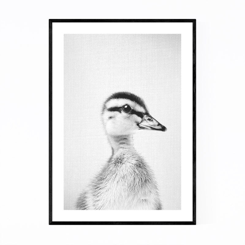 Cute Baby Duckling Peekaboo Animal Framed Art Print