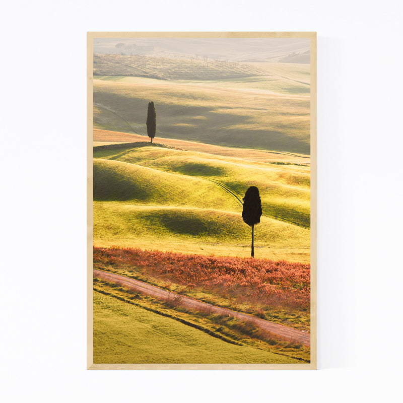Tuscany Italy Winter Landscape Framed Art Print