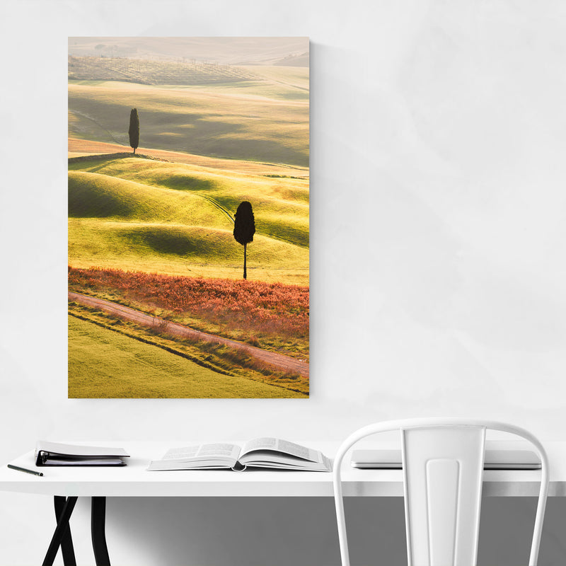 Tuscany Italy Winter Landscape Metal Art Print