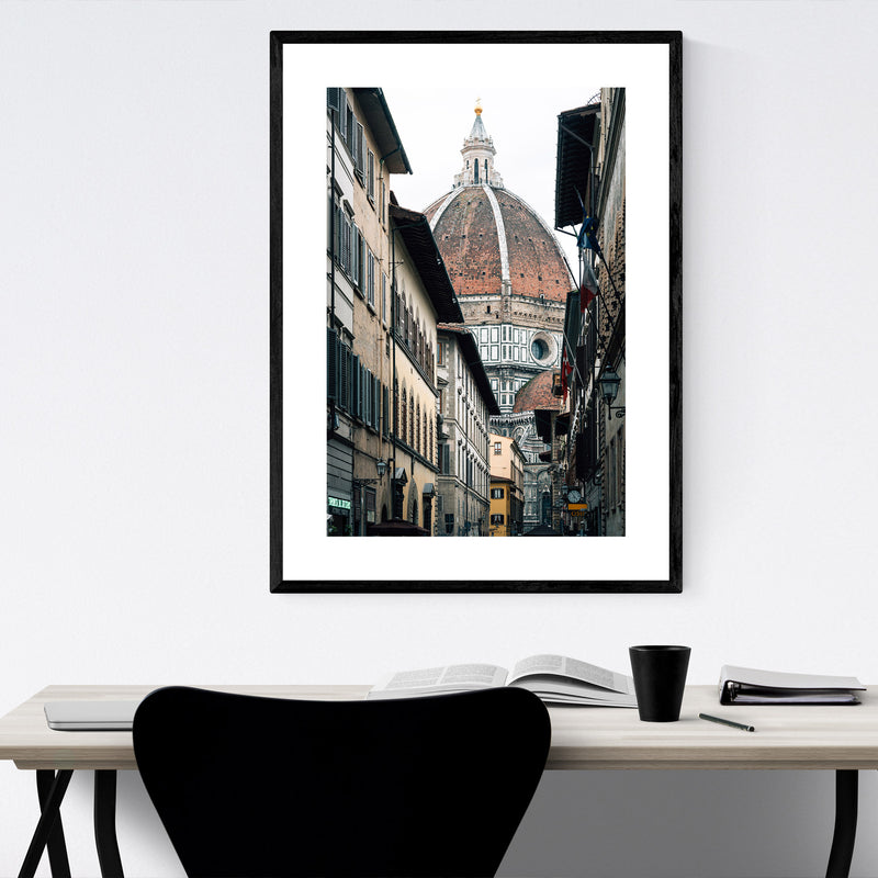 Florence Italy Duomo Photo Framed Art Print