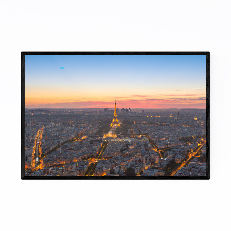 Eiffel Tower Paris France View Framed Art Print