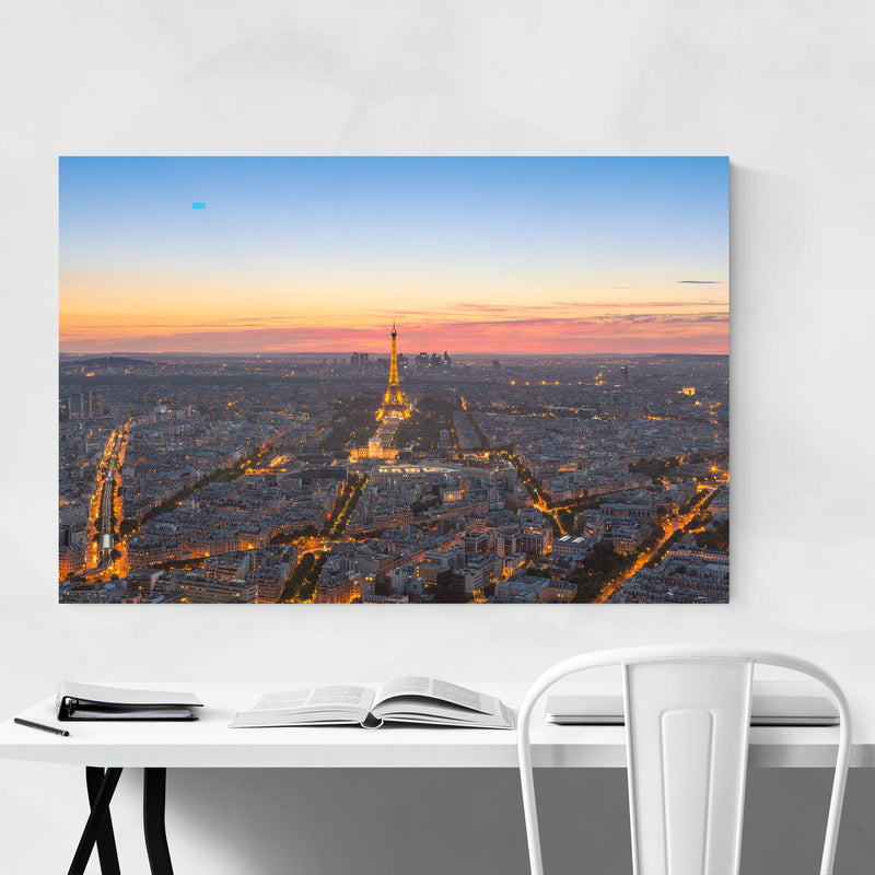 Eiffel Tower Paris France View Metal Art Print