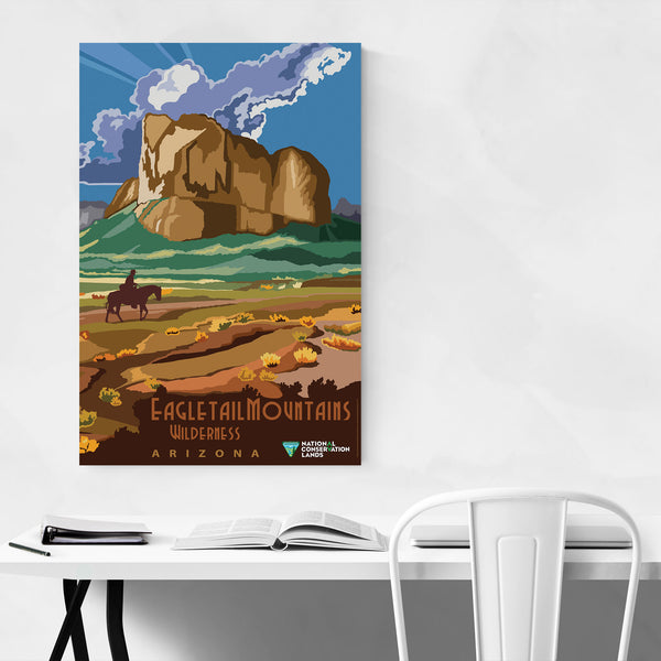Eagletail Mountains Arizona Art Print