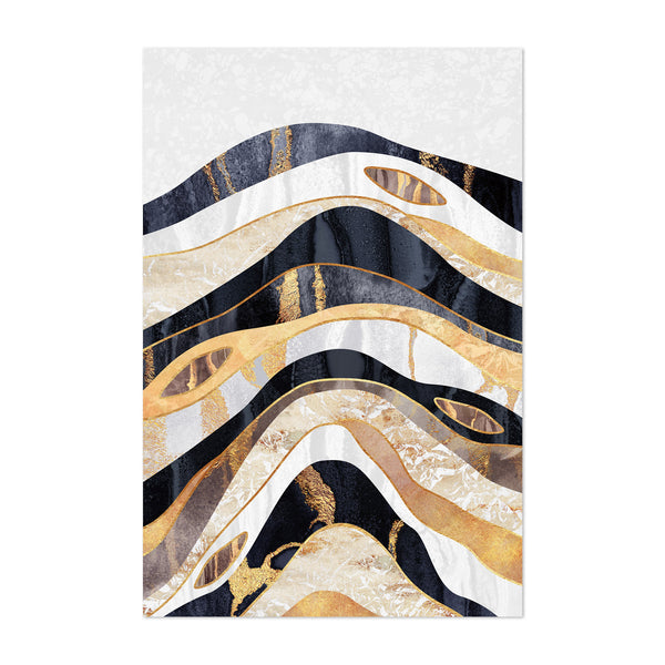 Art Deco Digital Earthy Geology Art Print