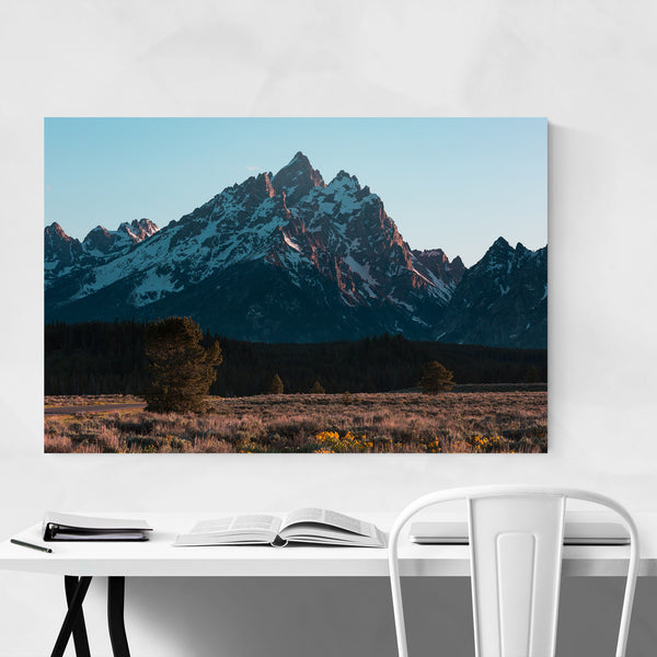 Grand Tetons Mountains Wyoming Art Print