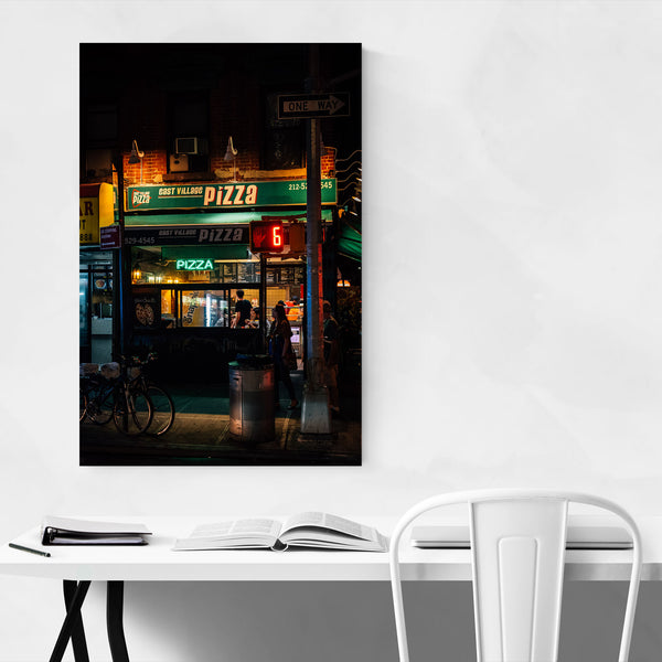 Pizza Sign East Village NYC Art Print