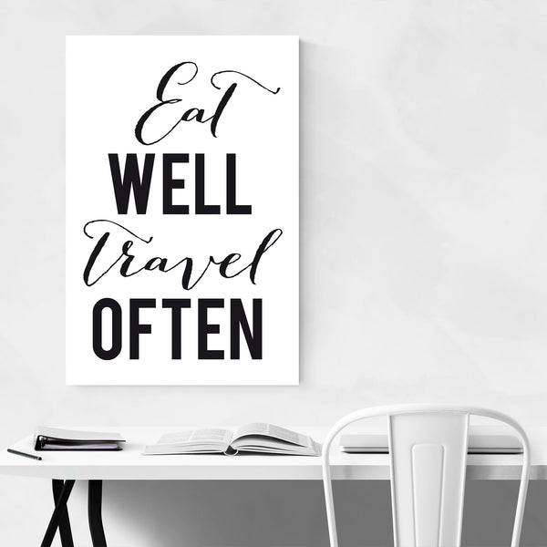 Minimal Kitchen Typography Art Print