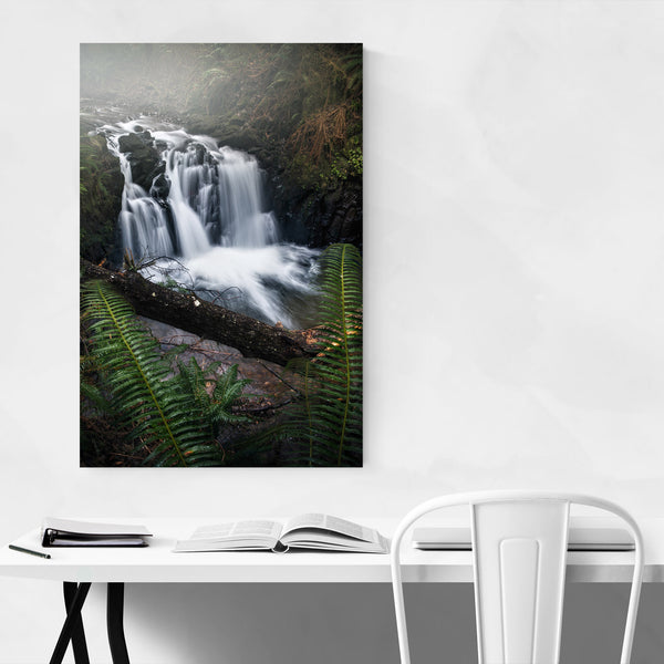 Ecola Falls Waterfall Oregon Art Print