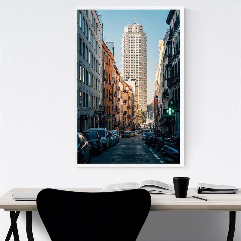 Madrid Spain Urban Architecture Framed Art Print