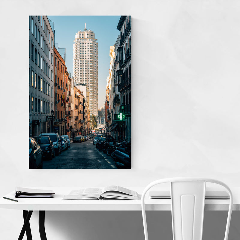 Madrid Spain Urban Architecture Canvas Art Print