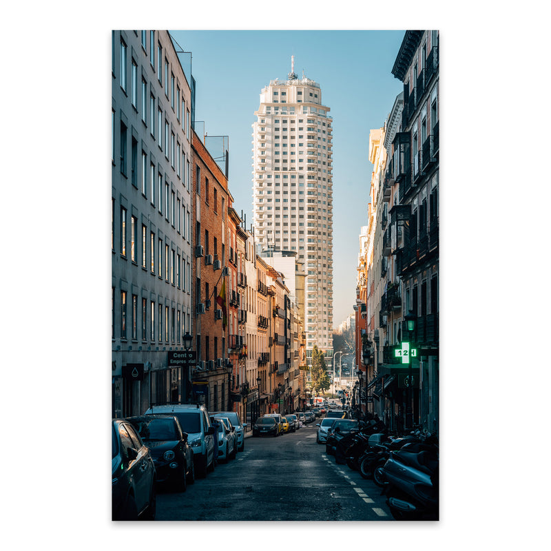 Madrid Spain Urban Architecture Metal Art Print