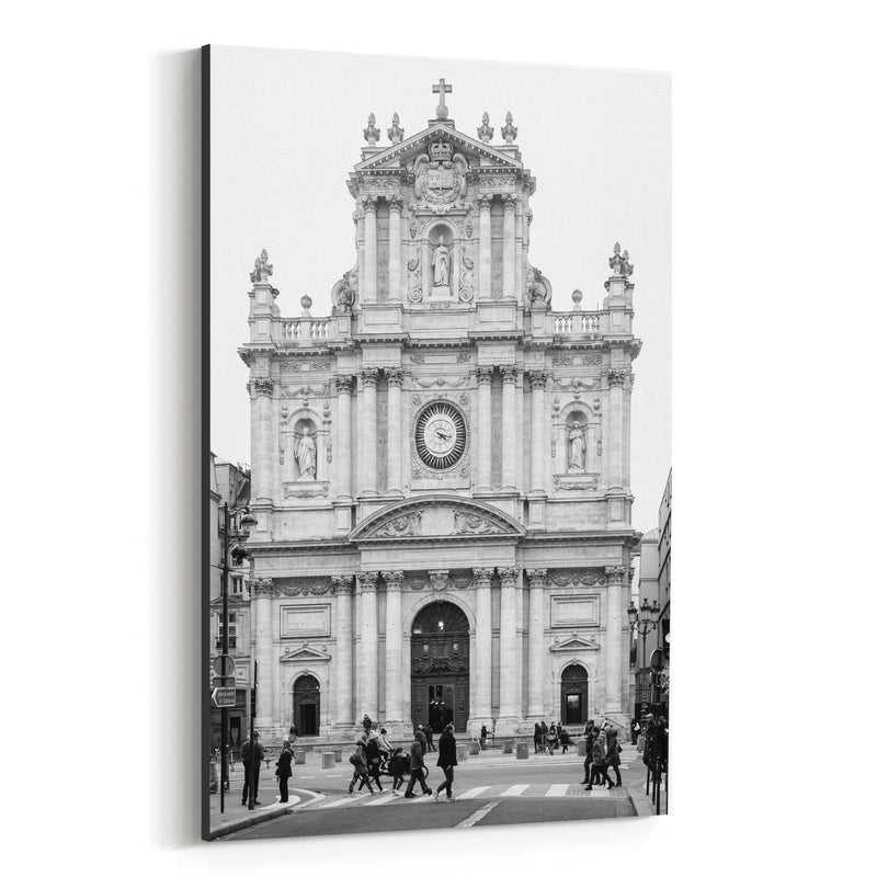 Black & White Paris France Photo Canvas Art Print