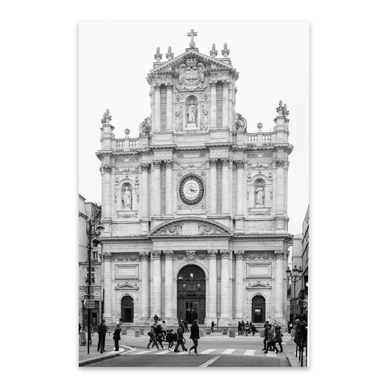 Black & White Paris France Photo Metal Art Print