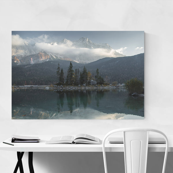 Lake Eibsee Germany Mountains Art Print