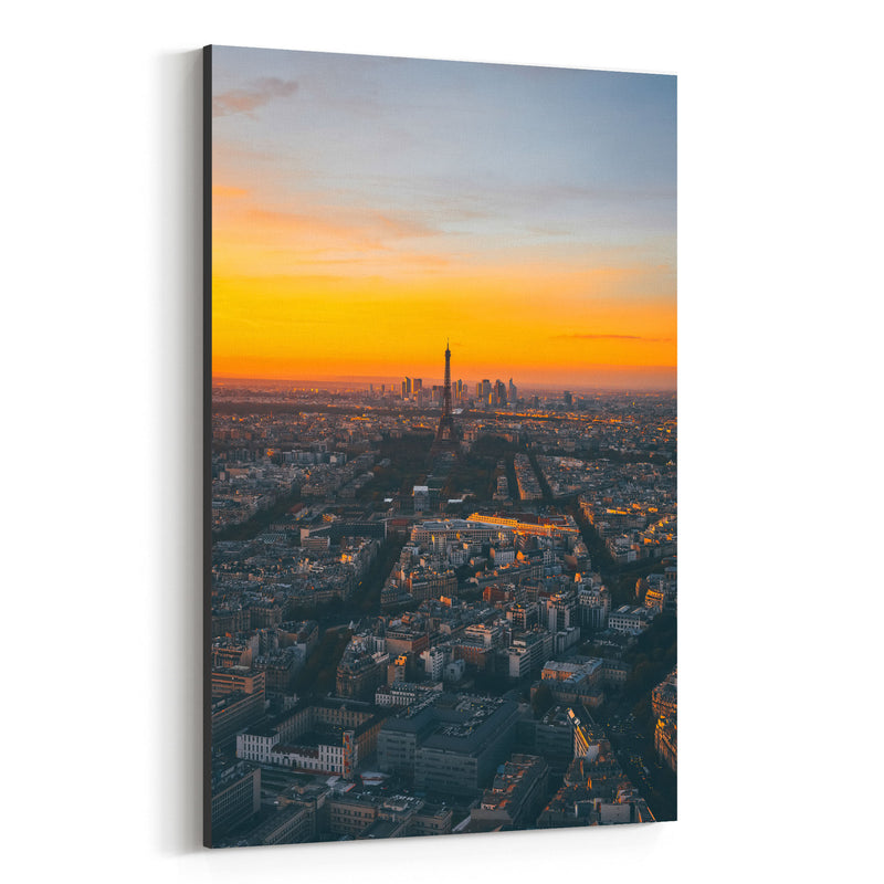 Eiffel Tower Paris France Europe Canvas Art Print