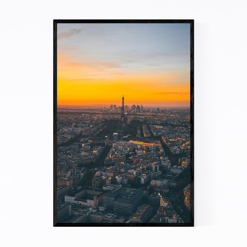 Eiffel Tower Paris France Europe Framed Art Print