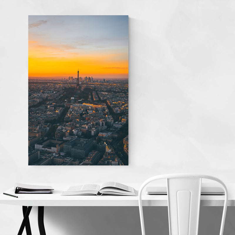 Eiffel Tower Paris France Europe Metal Art Print