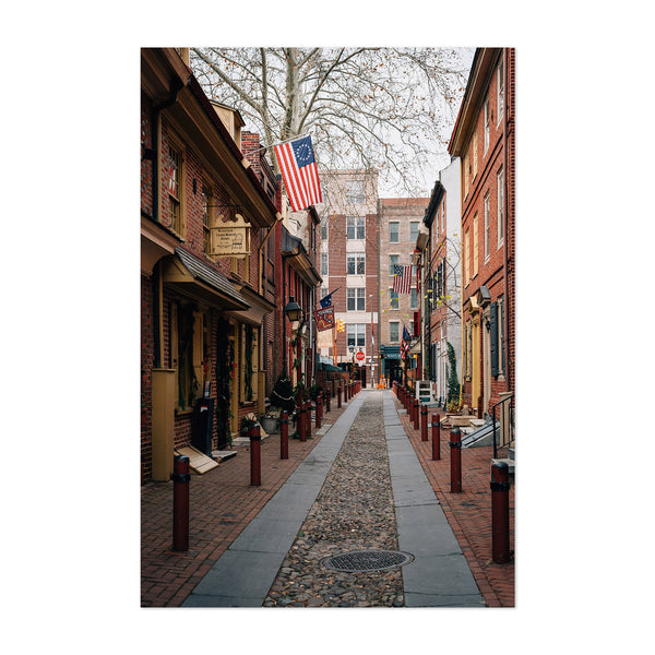 Philadelphia Elfreth's Alley Art Print