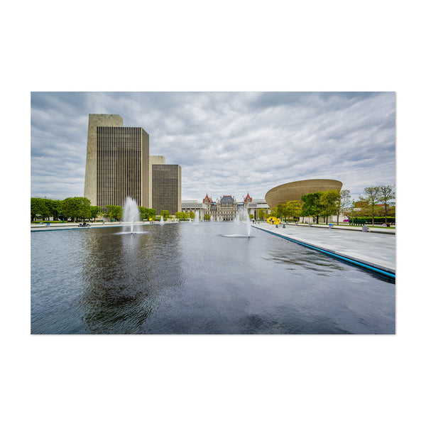 Albany New York Empire Plaza Art Print
