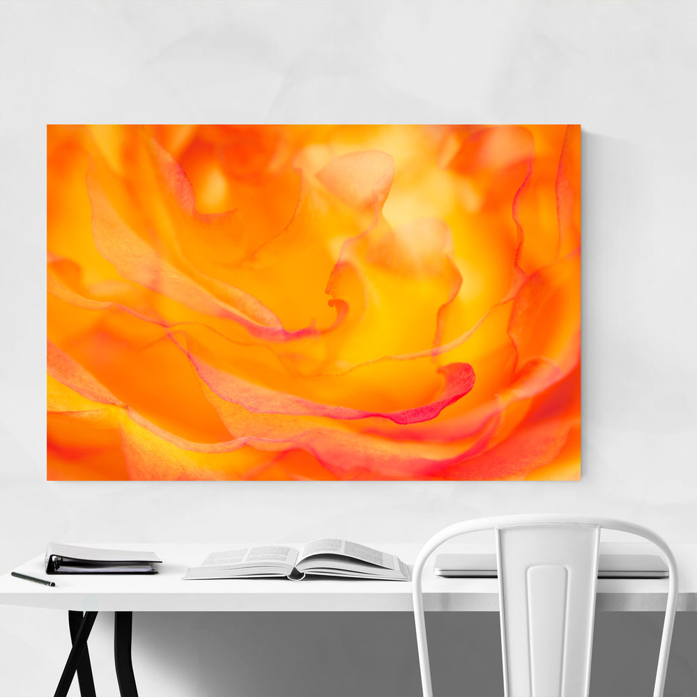Abstract Rose Digital Art Floral Canvas Art Print