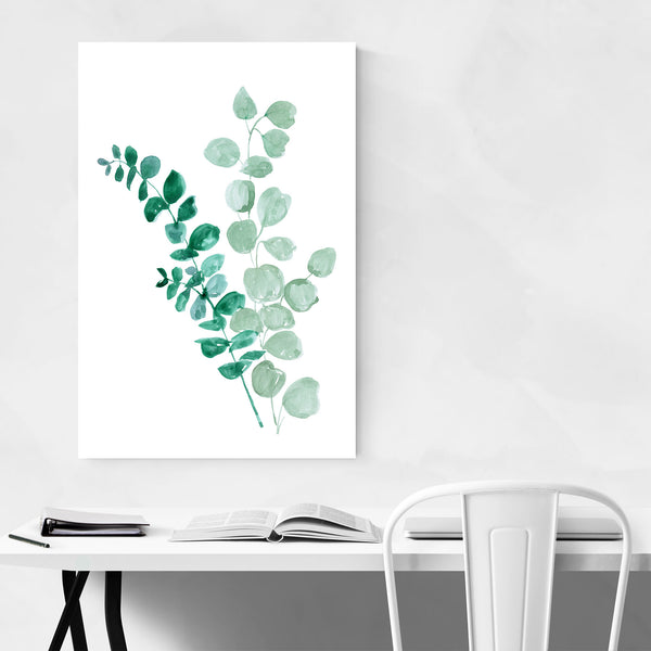 Botanical Eucalyptus Watercolor  Art Print