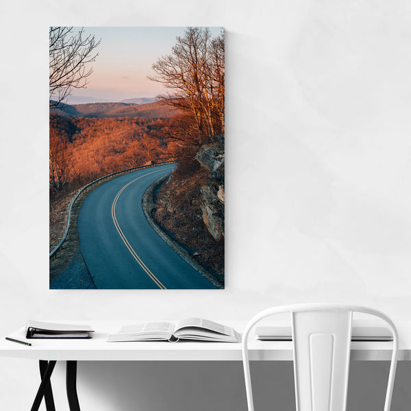 Virginia Blue Ridge Parkway Road Art Print