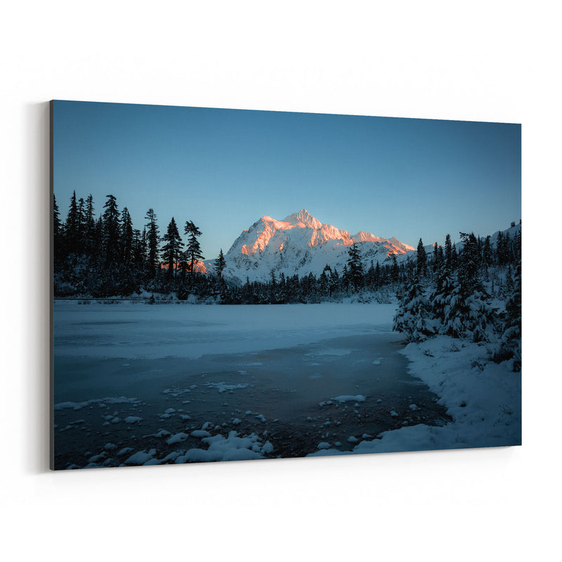 Picture Lake Washington Nature Canvas Art Print