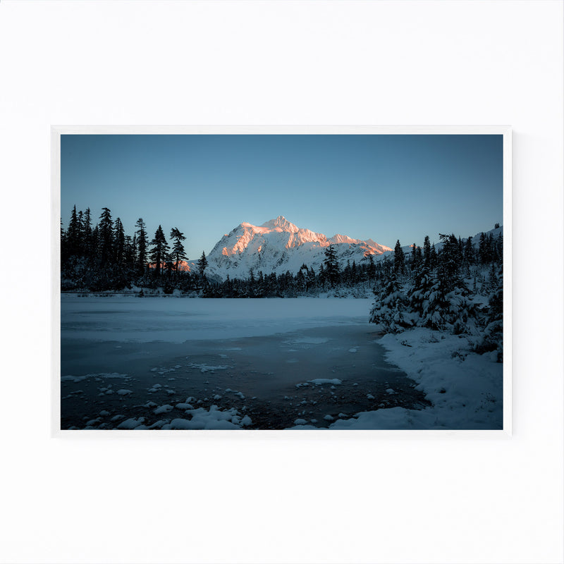 Picture Lake Washington Nature Framed Art Print