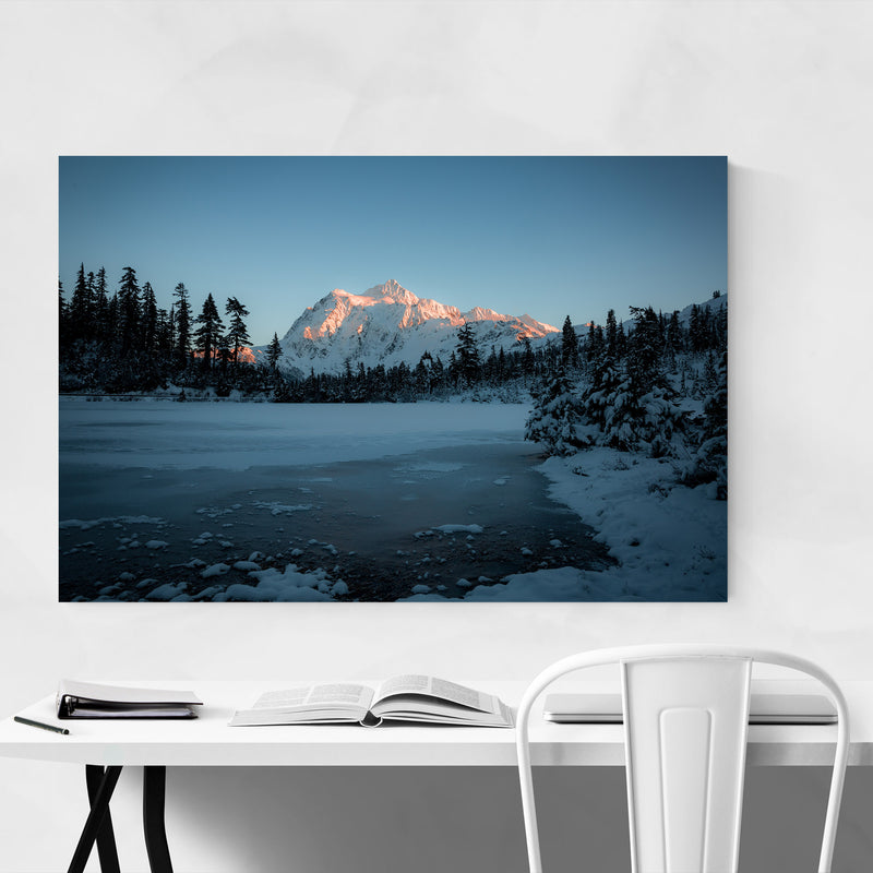 Picture Lake Washington Nature Metal Art Print