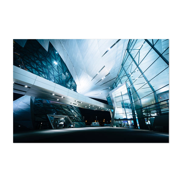 Munich BMW World Architecture Art Print