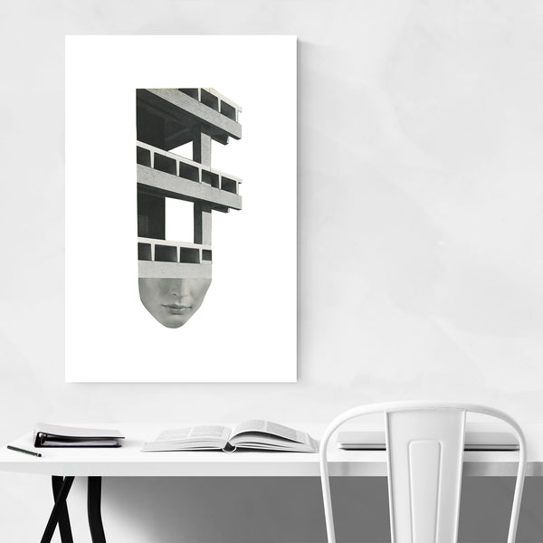 Abstract Architecture Collage Art Print