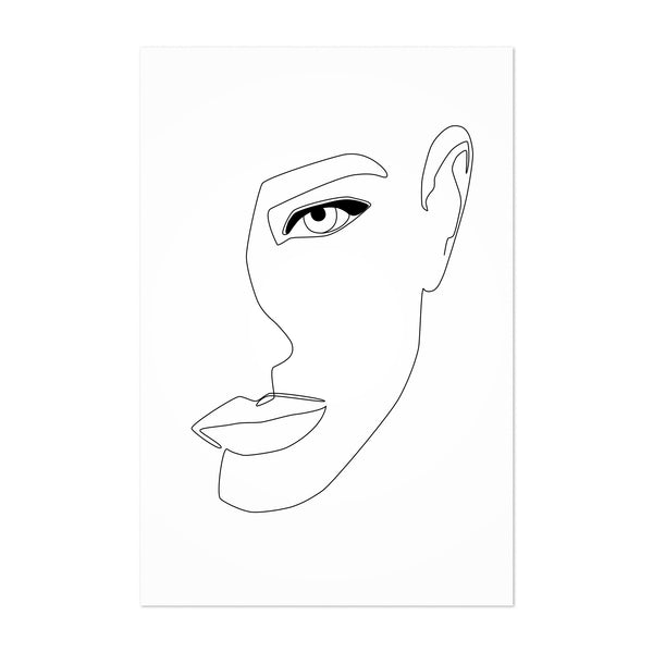 Feminine Fashion Line Drawing Art Print