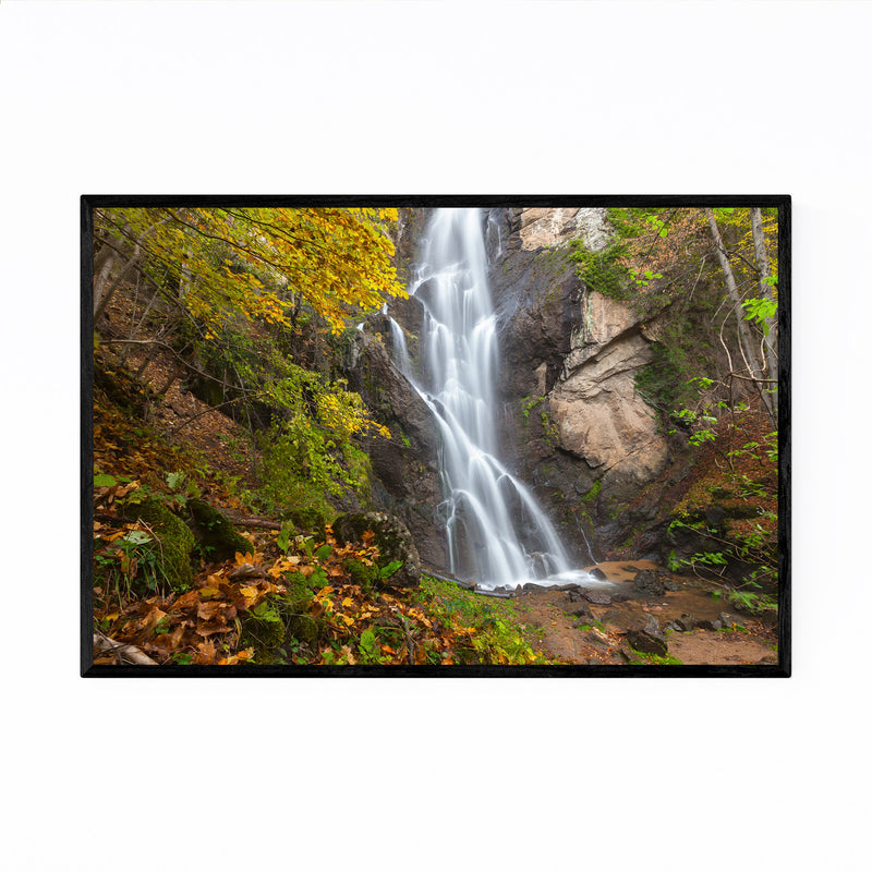 Bulgaria Autumn Forest Waterfall Framed Art Print