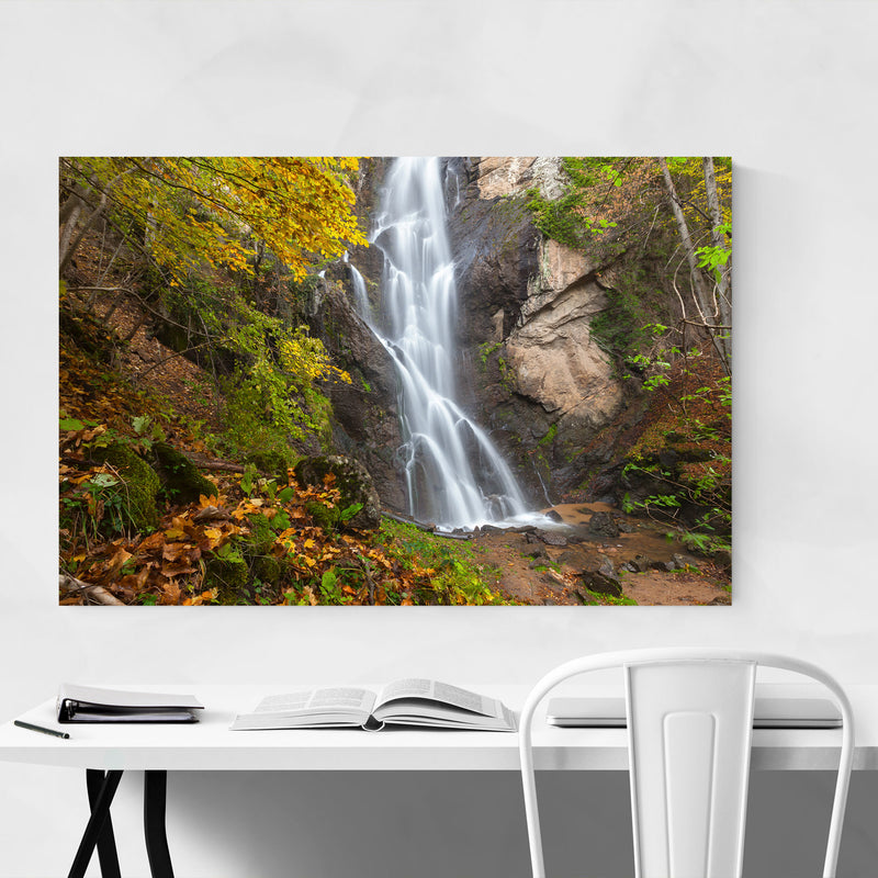 Bulgaria Autumn Forest Waterfall Art Print