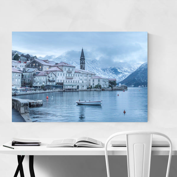 Perast Montenegro Winter Photo Art Print