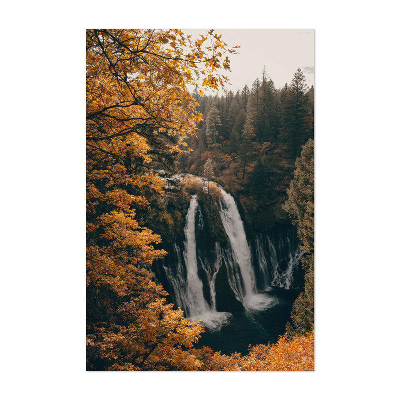 Burney Falls Autumn California Art Print