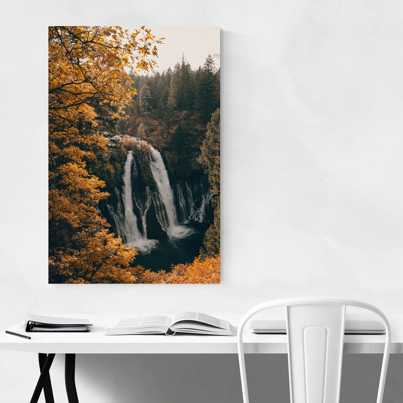 Burney Falls Autumn California Canvas Art Print