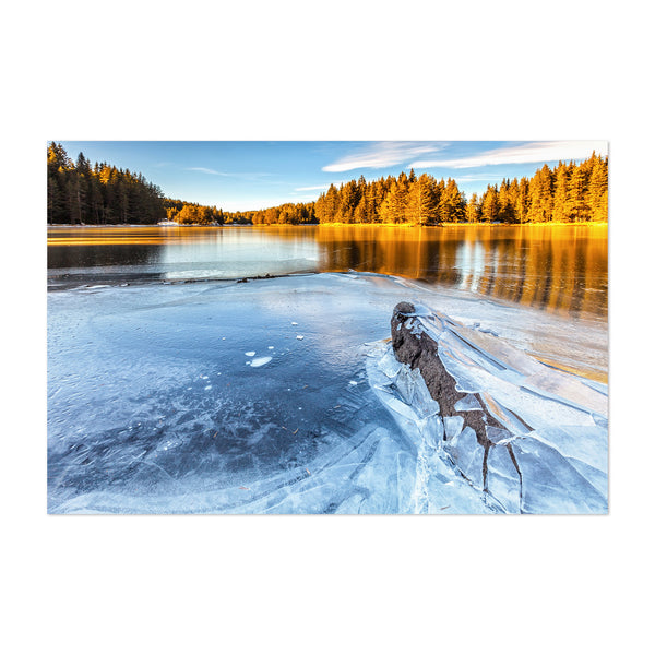 Bulgaria Lake Landscape Nature Art Print