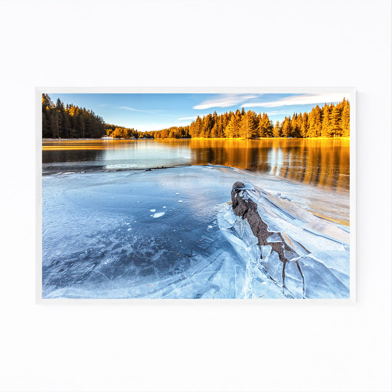 Bulgaria Lake Landscape Nature Framed Art Print