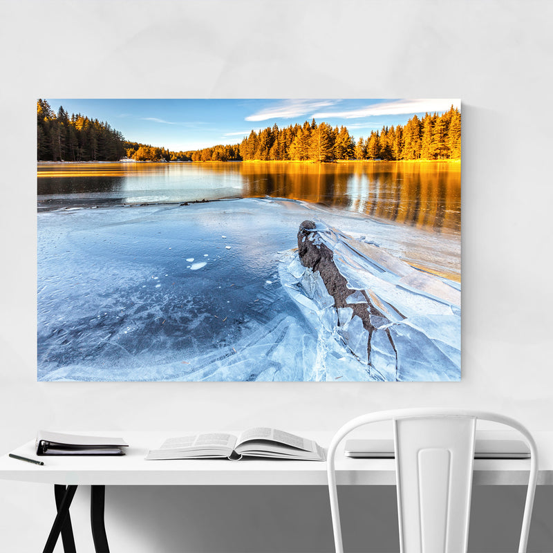 Bulgaria Lake Landscape Nature Canvas Art Print