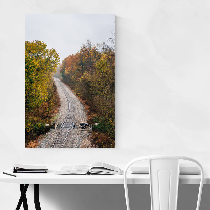 Fall Color along Railroad Metal Art Print
