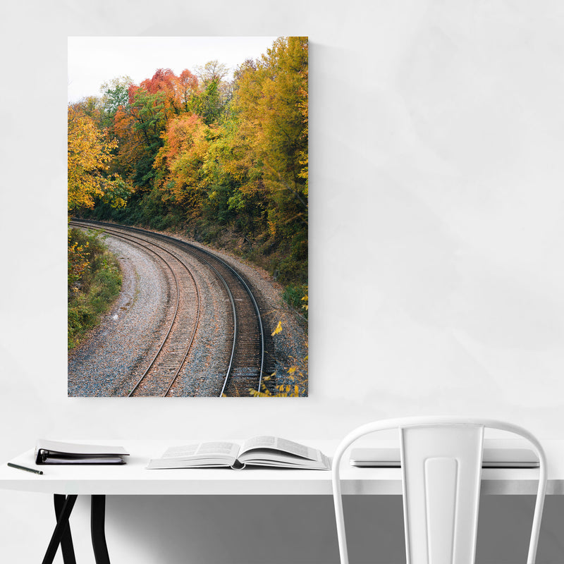 Fall Color along Railroad Art Print