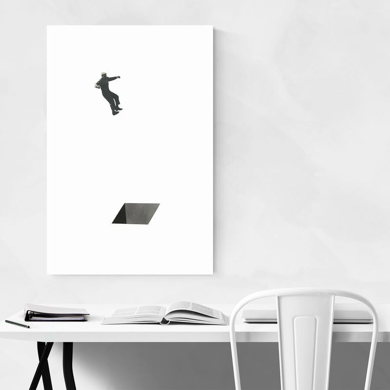 Abstract Geometric Shape Man Canvas Art Print